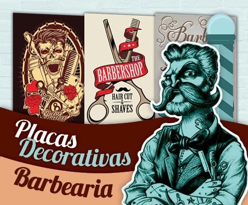 placas decorativas para barbearia - 30x20 - promoções