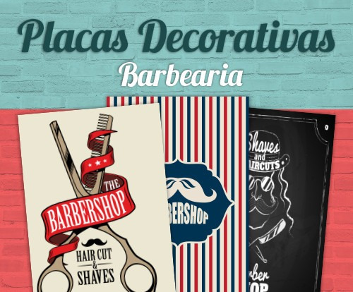 Placas decorativas para barbearia 30x20cm barber shop - Placas decorativas pared ...
