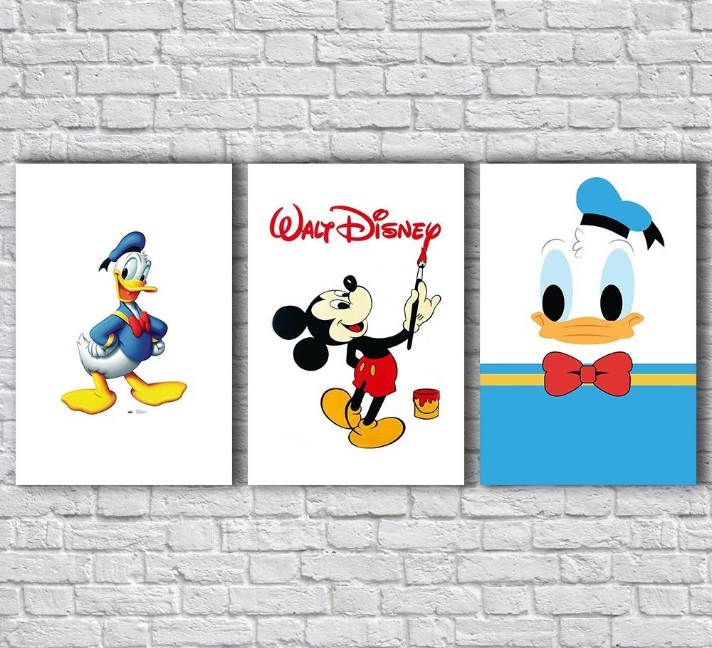 Placas Decorativas Pato Donald Mickey Desenhos Infantis Mdf