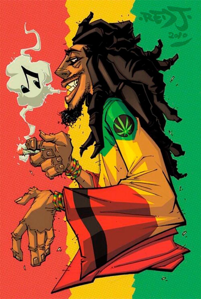 Placas Decorativas Reggae Bob Marley Desenho Conjunto R 39 00