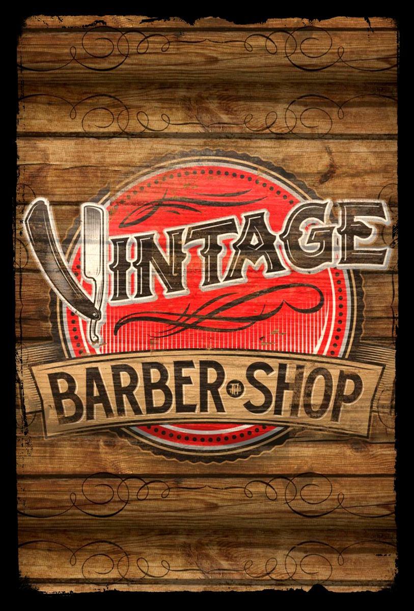Adesivo De Parede Com Led ~ Placas Decorativas Retro Vintage Barbearia Barber Shop R