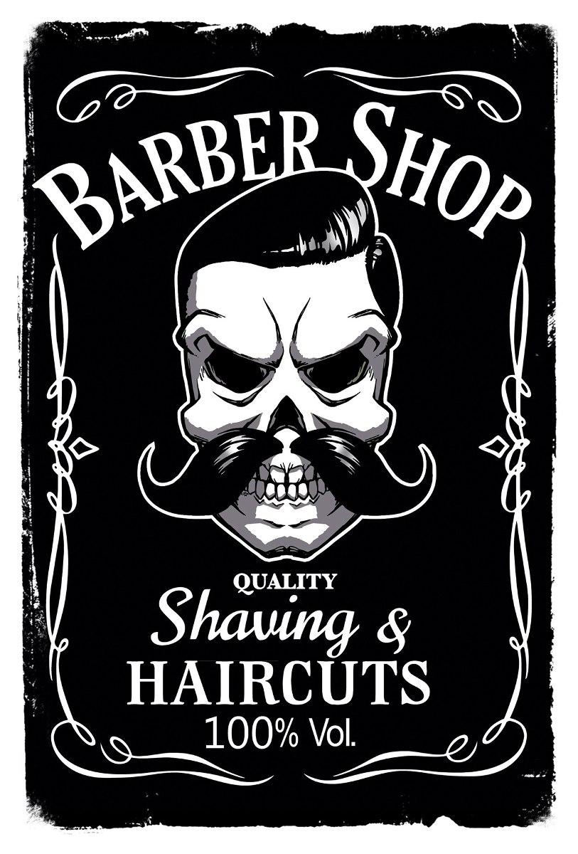 Placas Decorativas Retro Vintage Barbearia Barber Shop R