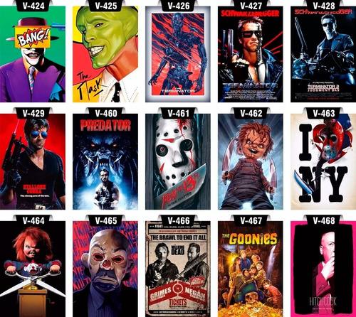 placas decorativas séries filmes heróis