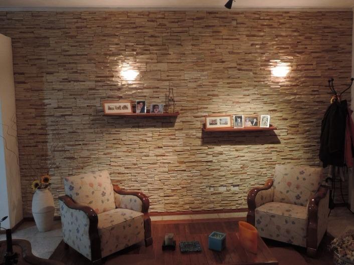 Pared interior de piedra placas decorativas simil piedra - Placas decorativas paredes interiores ...