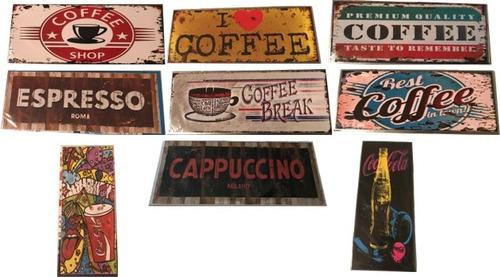 placas decorativas vintage metal 10x25 cm baratas