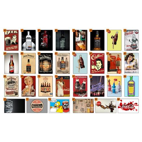 placas decorativas vintage quadro retro cerveja bares