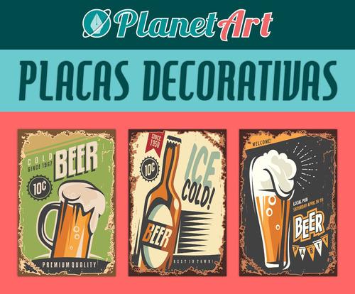 placas decorativas vintage retro cerveja coca cola antiga!!