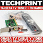 Tarjeta Tv Tuner Pci Capturador Fm Radio Control Remoto Win7
