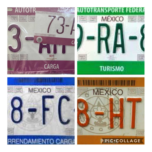 placas federales