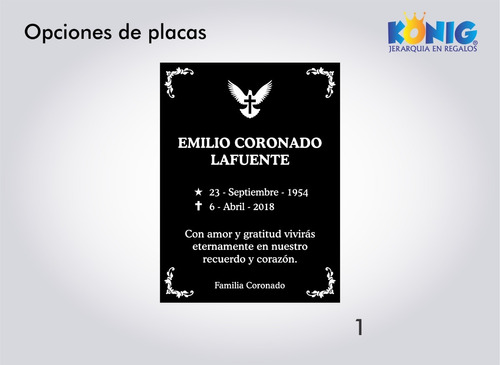 placas funerarias para criptas lapidas grabado láser gratis