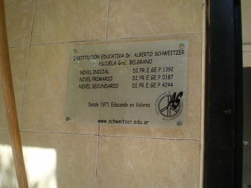 placas grabadas bronce, aluminio, acrilico, marmol, vidrio