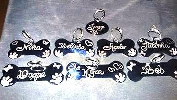 placas identificação para cães (200pçs )+brinde+frete grátis( kit promocional)