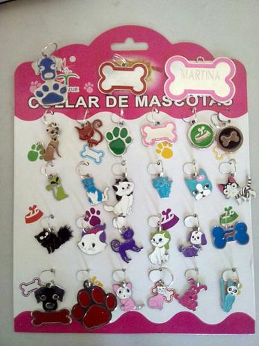 placas marcadas para perro y gatos con el nombre y numero