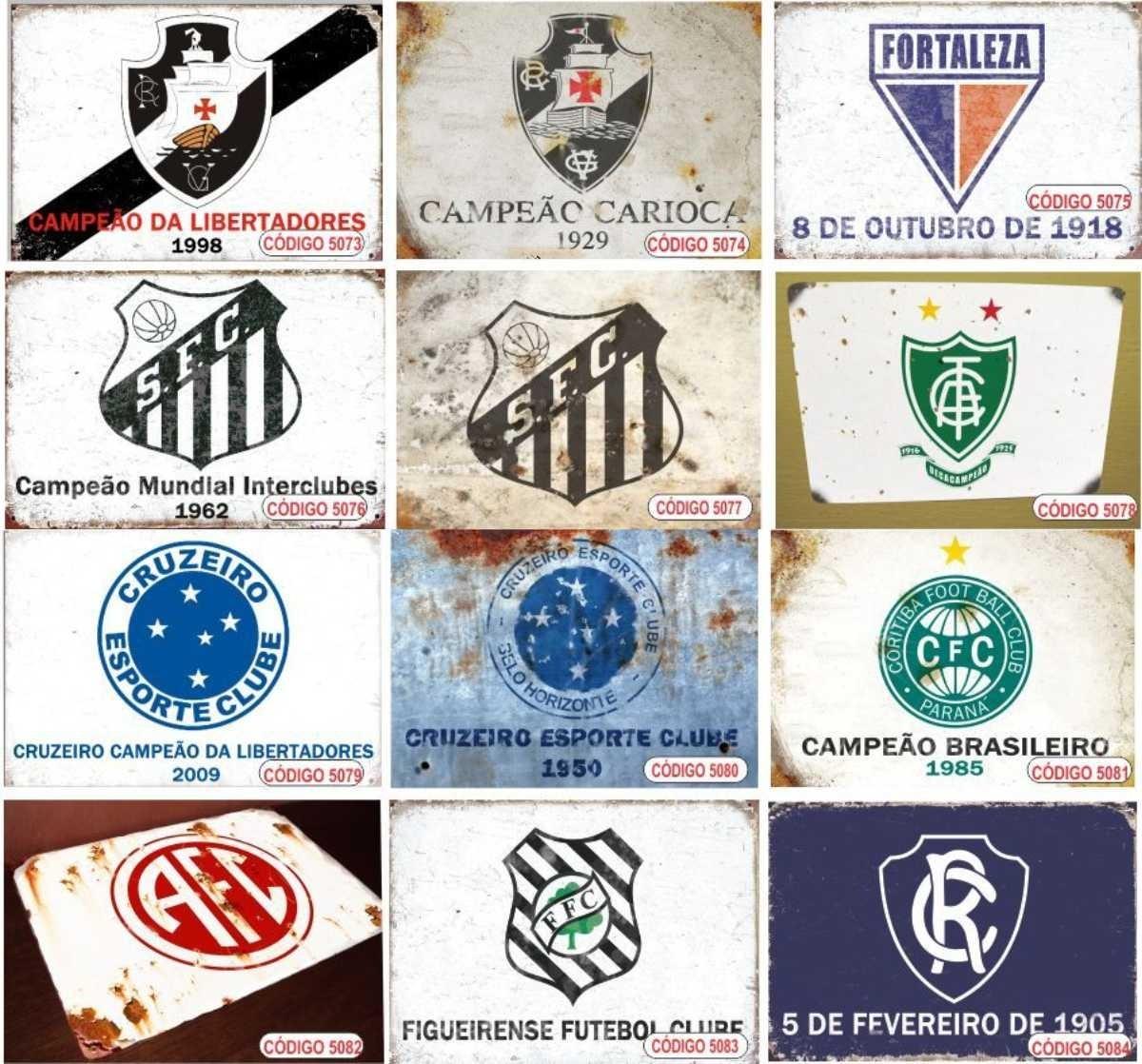 Placas Metal Decoração Flamengo Corinthians Palmeiras Vasco - R  15 ... eec1e995650c6