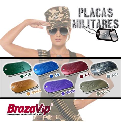 placas militares troqueladas con tus datos