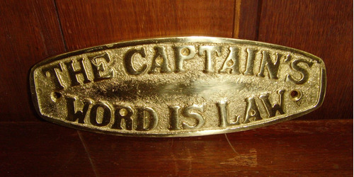 placas náuticas em metal-ships bar/ captain world...