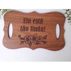 Placas Para Casamento - Textura Madeira Freijó