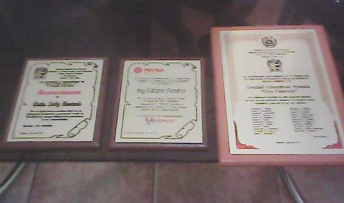 placas para reconocimiento