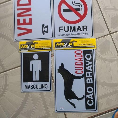 placas para sinalização.