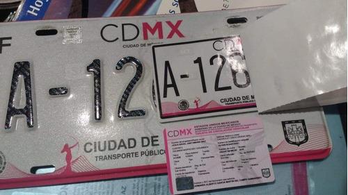 placas para taxi cdmx