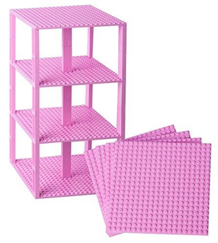 placas prima rosa apilable base - 4 pack de 6  x 6  placa...