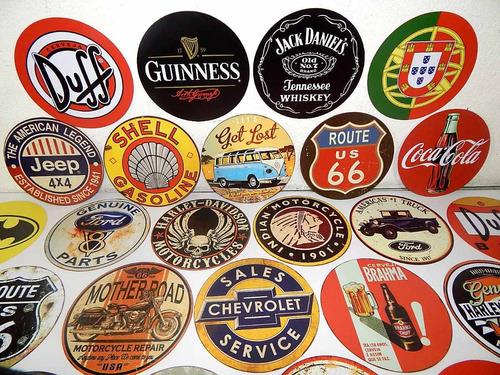 placas redondas retrô cervejas jack danie`s brahma budweiser