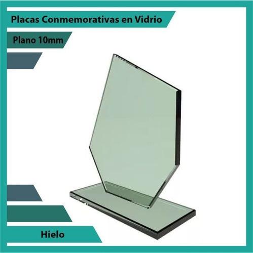 placas y trofeos en vidrio hielo pulido plano 10mm