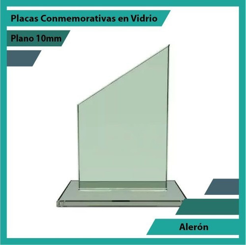 placas y trofeos en vidrio referencia alerón plano 10mm