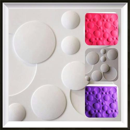 placas yeso 3d antihumedad en color. para diseño