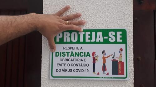 placa_sinalização - proteja-se respeite distanciamento