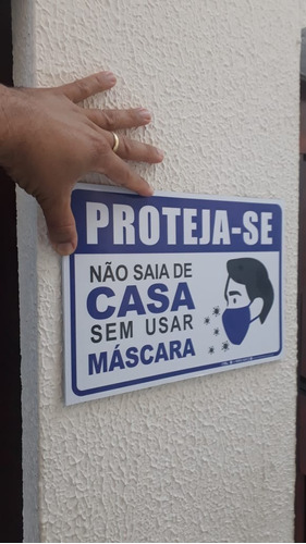 placa_sinalização - proteja-se use máscara