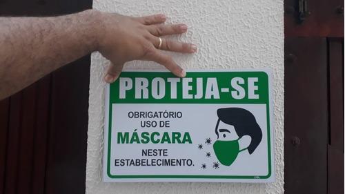 placa_sinalização - uso obrigatório de máscara