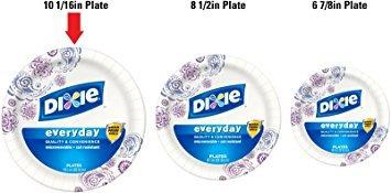 placas,juguete platos de papel dixie hd, 10 116 pulgadas..