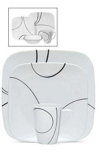 placasplaza corelle 16 piezas simples líneas de diseño de..