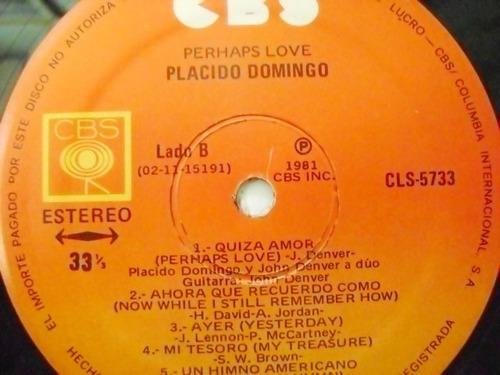 placido domingo with john denver  1 disco  lp vinil