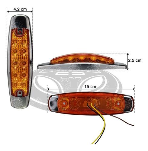 plafon 10 led tipo peter fijo + estrobo remolque ambar f1