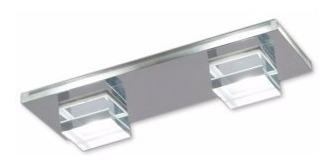 plafon  2 luces cristal  led diseño moderno envio gratis