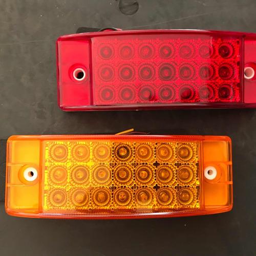 plafon 21 leds rectangular ámbar 2 funciones