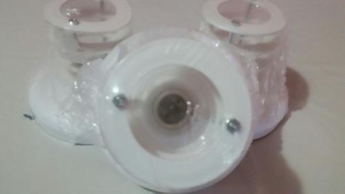 plafon 4 aros metal blanco nuevos
