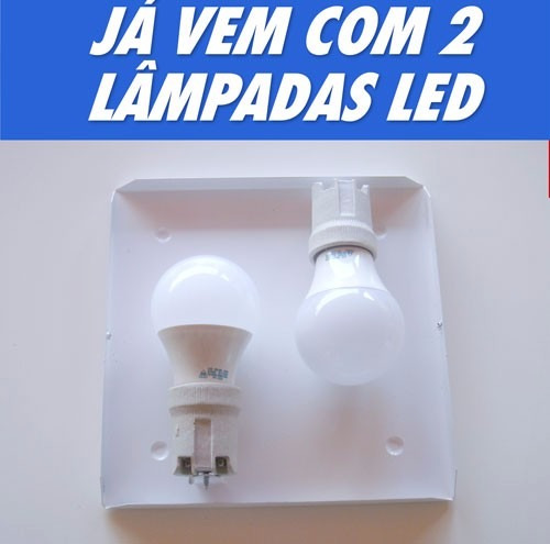 plafon aço luminária