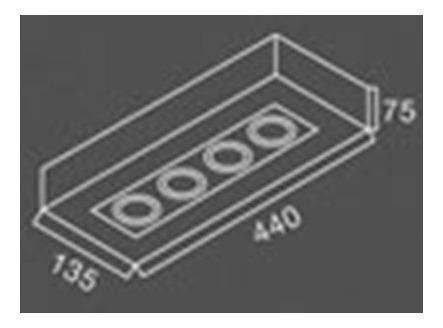 plafon aplique cardanico techo 4 luces apto dicro led gu10