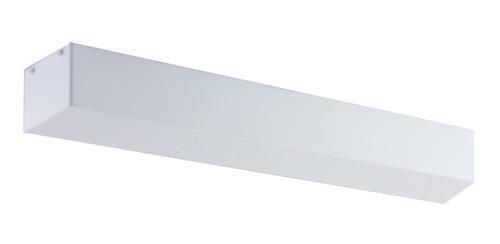 plafón aries en acero y acrílico, para 2 tubos fluorescentes