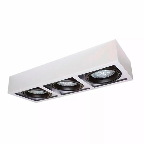 plafon cardanico ar111 4 luces led techo moderno lineal 220v