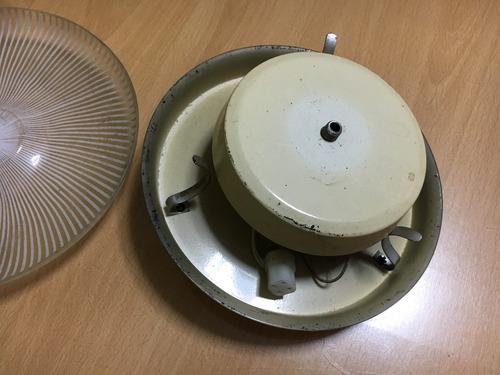 plafón circular para tubo fluorescentes de 22 watts
