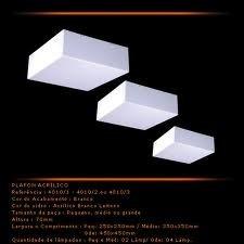 plafon de sobrepor acrílico leitoso (direto com o fabricante