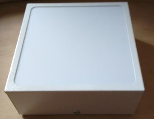 plafon de sobrepor quadrado branco  50x50x8 acrílico leitoso