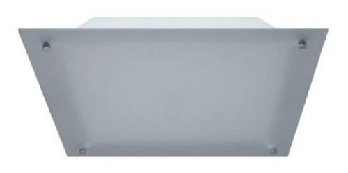 plafon de techo cuadrado vidrio satinado 40 cm apto led
