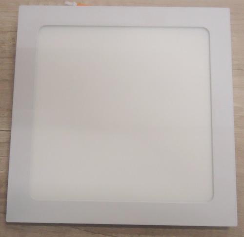 plafon embutir 18w quadrado luz branca - llum