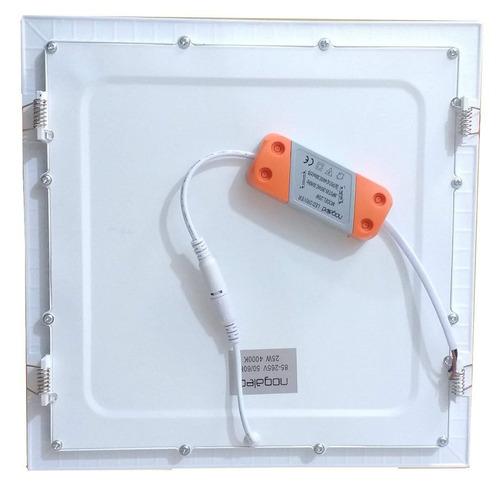 plafon embutir 25w super led 5pç 30x30x4cm fino nogaled luxo