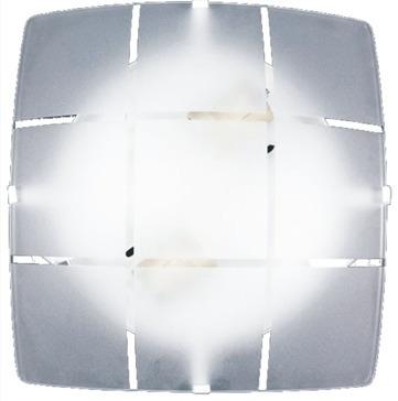 plafon emc iluminação quadrado 2xe27 fosco